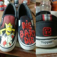 """die Bart die"" #shoes #panchas #zapatillas #thesimpsons #bobpatiño #pintadoamano"