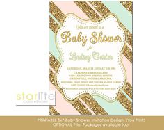 Hey, I found this really awesome Etsy listing at https://www.etsy.com/listing/206025365/blush-pink-mint-gold-baby-shower