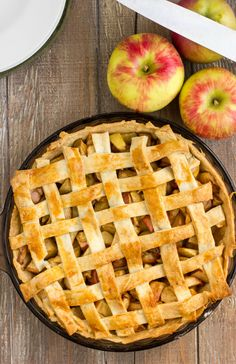 An overabundance of orchard apples works perfectly in this homemade apple pie recipe. Paired with a flaky crust, there is no going wrong here with this recipe! Homemade Apple Pies, Apple Pie Recipes, Fall Recipes, Sweet Pie, Dessert Recipes, Desserts, Cooking Recipes, Favorite Recipes, Online Cookbook