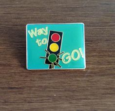 Vintage Enamel Lapel Pin by LittlePrickPins on Etsy