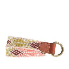 Girls' woven belt