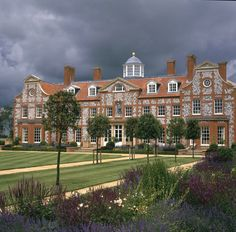Garden front of new country house in Norfolk designed by Francis Johnson