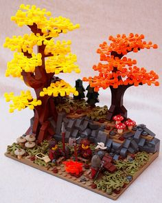 Created by: Chris Mcveigh Created by: Xenomurphy Created by: Cale Leiphart Cherry blossoms, created by: studio tidepool Lord of The Ring's Rivendell, created by: Alice Finch and David Frank Created b Legos, Lego Tree, Lego Halloween, Lego Sculptures, Lego Boards, Lego Activities, Lego Modular, Lego Castle, Cool Lego Creations