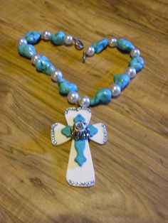 Gypsy Cowgirl Chic XL Robins Egg Blue Magnesite Pearl