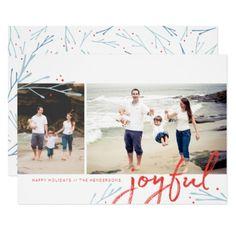 #Winter Frost Holiday 2 Photo Card - #Xmas #ChristmasEve Christmas Eve #Christmas #merry #xmas #family #kids #gifts #holidays #Santa