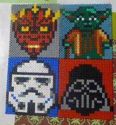 Star Wars hama beads - Cuillère, aiguille et scie sauteuse