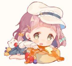 Anime Cupples, Cute Anime Chibi, Anime Girl Cute, Anime Art Girl, Kawaii Girl Drawings, Cute Animal Drawings Kawaii, Cute Drawings, Loli Kawaii, Kawaii Chibi