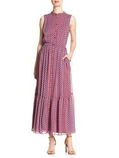 Maxi Chiffon Dress 12 BANANA REPUBLIC Button-Front Women's Printed Gown NWT #BananaRepublic #Maxi #Casual