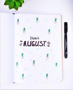 Bullet journal setup august | The DIY Life