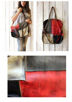 """Handmade Italian vintage Leather Tote bag """"PACH BAG 3"""" di LaSellerieLimited su Etsy"""