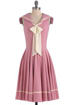 Vintage sailor dress in pink ohh lala