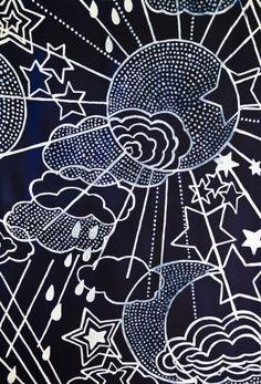 Luli Sanchez (kids category) Cloud Illustration, Pattern Illustration, Doodle Sketch, Doodle Art, Conversational Prints, Moon Drawing, Star Art, Star Designs, Sun Moon Stars