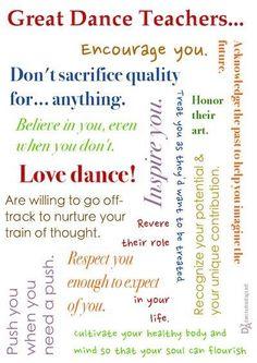 Twitter / Dance_Teacher: What makes a great dance teacher? ...