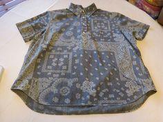 Ralph Lauren Mens XXL Indigo 1/3 button pullover Shirt 511001 Seacoast Coastal B #RalphLauren #ButtonFront