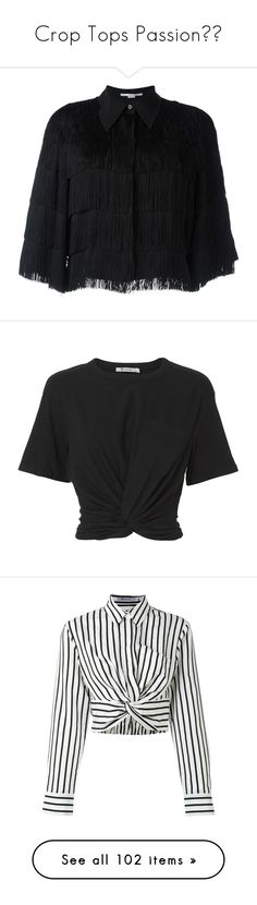 """Crop Tops Passion☄️"" by rhasan-zadeh ❤ liked on Polyvore featuring tops, shirts, black, layered tops, short shirts, cut-out crop tops, short tops, sleeve top, t-shirts and crop top"