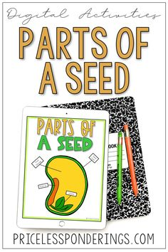 Kids will explore parts of a seed with these interactive Google Slides. These digital worksheets will help students learn about life science through hands-on digital worksheets. #distancelearning