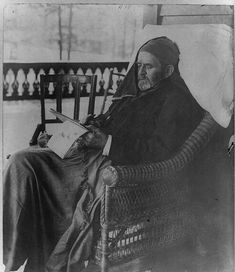 Ulysses S Grant writing his memoirs less than a months before his death in American Presidents, Us Presidents, American Civil War, American History, Republican Presidents, Ulysses S Grant, Empire, Grant Writing, Into The West