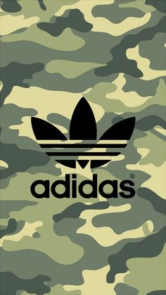adidas Logo Camouflage Pattern iPhone Wallpaper