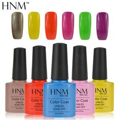 HNM Long lasting 8ml Soak Off Gel Polish UV LED Nail Gel Polish Gel Lak 79 Colors Gel Varnishes Vernis Semi Permanent Gelpolish