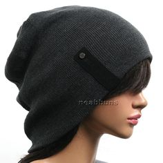 unisex chic BEANIE men women beenie cap Hat Beret skull NEW bkbl dark grey | eBay