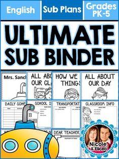 Ultimate Sub Binder - Editable