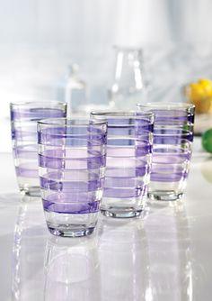 Spectrum Stripe Highball Glasses