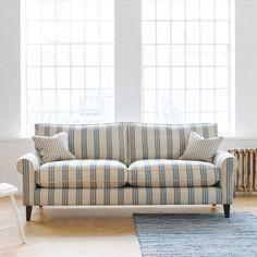 Bespoke Sofas, Unique Sofas, Striped Sofa, Sofa Uk, Traditional Sofa, Three Seater Sofa, Sofa Frame, Sofa Styling, Sofa Shop