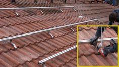 Photovoltaik selber montieren - Die Aufdachmontage in Eigenregie @ diybook. Roof Cleaning, Solar Power System, Homework, Symbols, Inspiration, Landscaping Design, Rooftops, Log Projects, Solar Power