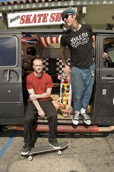 Duane Peters and Mike Vallely