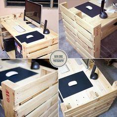 Incredibile scrivania con 2 pallets 3