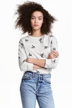 Printed sweatshirt | H&M