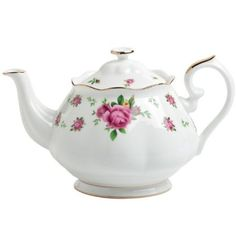 Royal Albert New Country Roses White Vintage Formal Tea Pot: Amazon.com: Kitchen & Dining