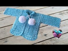 Crochet baby sweater with unique stitch - Video 2 - YouTube
