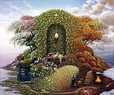Three Seasons - Jacek Yerka