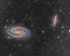 Astrophotographer Stefan Muckenhuber sent in a photo  of galaxies M81 (left) and M82, obtained in mid-2015 from Tirol, Austria. M81 (AKA Bode%u2019s Galaxy), a spiral galaxy, lies about 12 million light-years away from Earth in the constellation of Ursa Major. M82 is also known as the Cigar Galaxy.