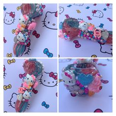 Custom Hello Kitty inspired glass pipe.   http://www.etsy.com/shop/yelenasCraftsXO