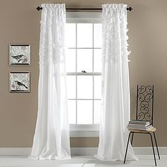 Give your window a refreshing makeover with the Avery 84 Rod Pocket Window Curtain Panel Pair. Designed with ripples of diaphanous tiers over soft micro fiber fabric, the lively panels create a light and airy ambiance in any room in your home.