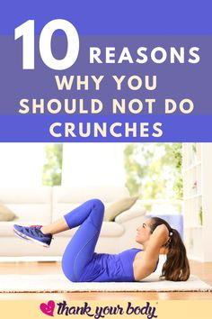 Whether a popular opinion or not, I rarely support the idea of doing crunches for ab training (and this is coming from a recovered crunches-junkie). Here are the reasons why you should NOT do crunches.Check it out! #crunches
