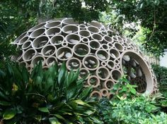 Packed Pavilion Constructed Completely From Cardboard