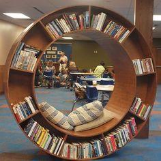 lovely home library design ideas library room home libra School Library Design, Home Library Design, Home Interior Design, House Design, Library Ideas, Kids Library, Creative Bookshelves, Bookshelf Design, Theme Design
