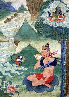 Nāropa (1016-1100) était un érudit d'Inde et un maître reconnu du bouddhisme tibétain.Il est l'un des maillons de la Lignée du Rosaire d´Or. Nāropa naquit dans une famille royale du Bengale. Il lui fut donné le nom de Samantabhadra et devait devenir roi. Toutefois, étant plus incliné vers la voie spirituelle et les études intellectuelles, à l'âge de huit ans, il demanda à aller au Cachemire afin de recevoir une éducation supérieure.
