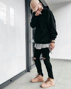 :Streetwear fashion, mens urban streetwear, men street, street wear, b Mens Urban Streetwear, Streetwear Mode, Streetwear Fashion, Urban Fashion, Mens Fashion, Fashion Outfits, Blackpink Airport Fashion, Street Outfit, Street Wear