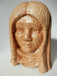 Wood Carving Of Native American Boy Wood by GleasonsWoodworking