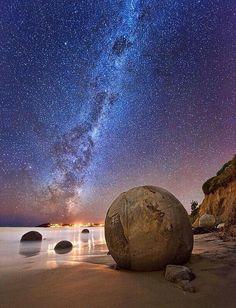 Moeraki beach New Zealand