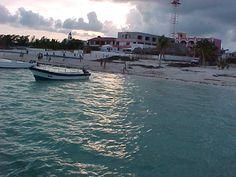 Puerto Morelos, a colorful village, in Quintana Roo, Mexico