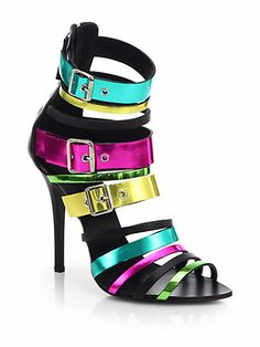 Giuseppe Zanotti - Multicolored Metallic Leather Sandals