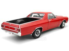 1970 Chevy El Camino 1:18 Scale - Welly Diecast Model (Red) #chevy #chevrolet #camaro #chevelle #corvette #belair #impala #impalass #Z/28 #ss350 #ss396 #ss454 #LS7 #ZR1 #Z06 #LT-1 #zl1 #commodore #stingray #convertible #yenko #baldwinmotion #55chev #56chev #57chev #shoebox #musclecar #customcar #hotrod #diecast #118scale #124scalemodelcars