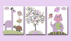 Art for Children Baby Girl Wall Art Kids Wall Art por artbynataera, $42.00