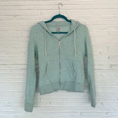 Minty blue zip up hoodie The color is a mintish light blue. Perfect condition, not worn much. Not from pink!! PINK Victoria's Secret Jackets & Coats