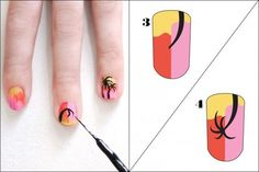 Easy nail art - did this with friends!